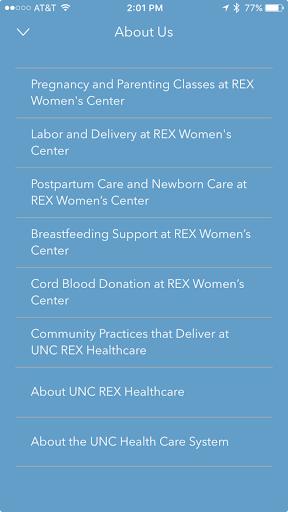 UNC REX Pregnancy & Baby screenshot 3