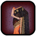 women saree suit photo montage icon