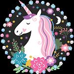 Unicorn Cartoon Theme Icon