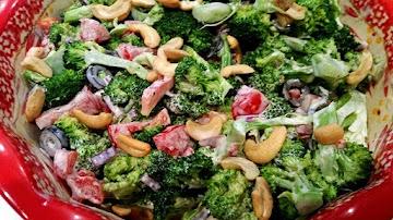 ~ Broccoli Cashew Salad ~ Recipe