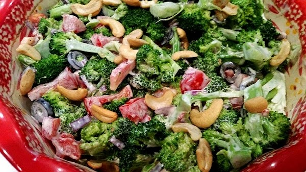 In a small bowl, whisk dressing ingredients. Toss with vegetables. Cover and chill. When...