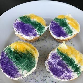 Mardi Gras Cupcakes - Mini Version.