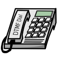 DTMFdial cost-saving dialer icon