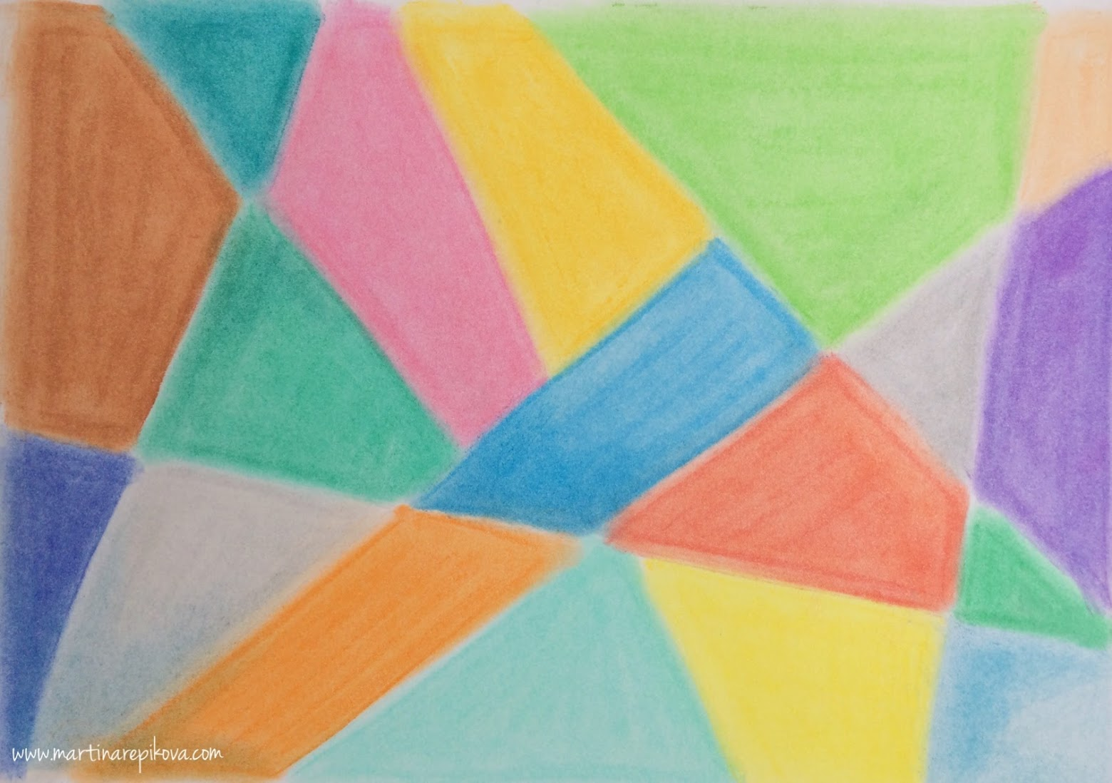 Geometry (a pastel drawing)
