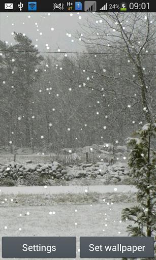 Snowy Winter Live Wallpaper