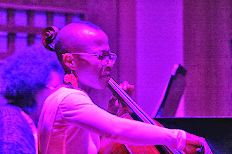 Photo: Monica McIntyre (cellist, House Band) - Photo courtesy of Lee Stephenson