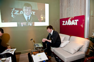 Photo: Tristan Willey of Booker & Dax in a Google+ Hangout live from the event.