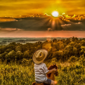 Riding off into the sunset by Jozette Spacht - Babies & Children Child Portraits