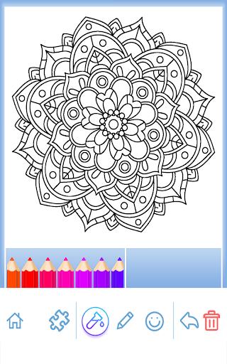 Cicekler Mandala Boyama Kitabi Google Play De Uygulamalar