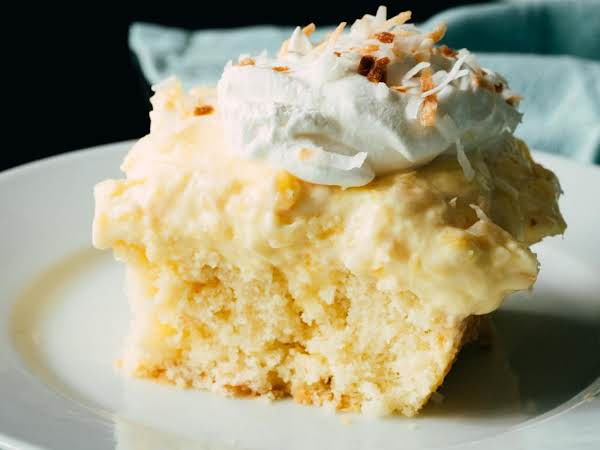Hawaiian Coconut Poke Cake Recipe