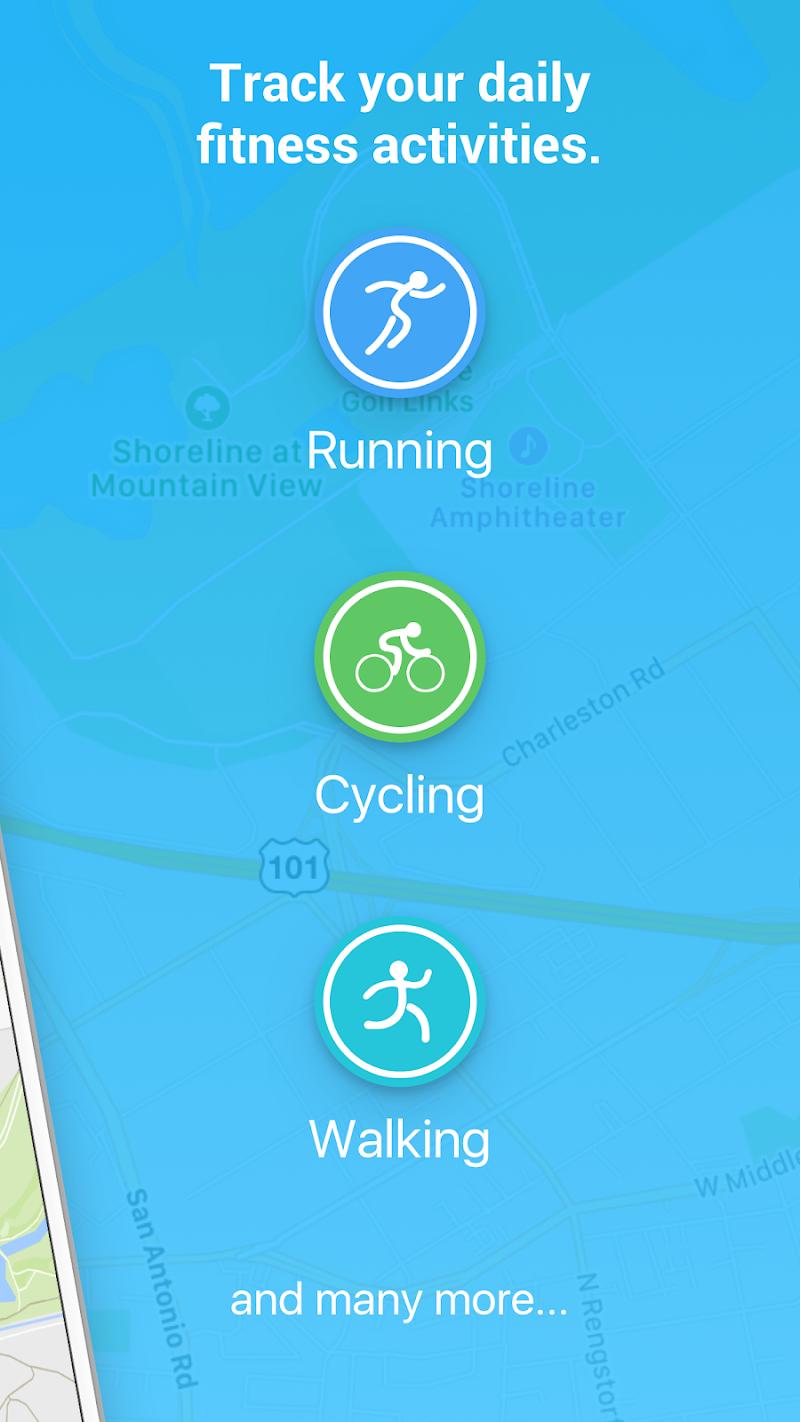 Running Walking Jogging Hiking GPS Tracker FITAPP Screenshot 2