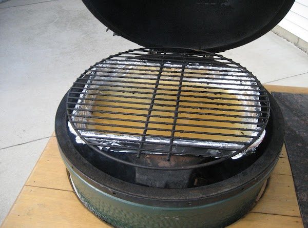 If you have a rib rack with a drip pan or you can just...