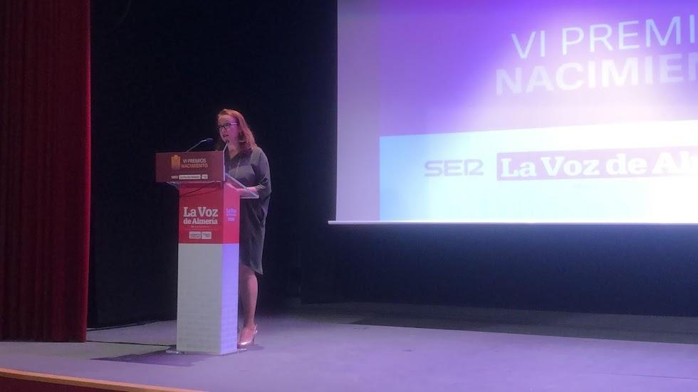 Antonia S. Villanueva, subdirectora de LA VOZ, abre la gala de los VI Premios Nacimiento.