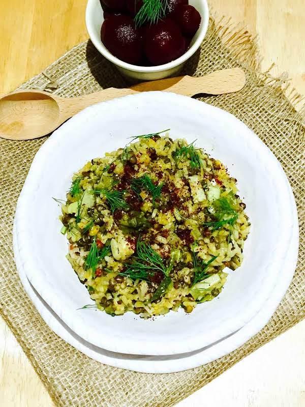 Truffle, Mushroom, Rice And Mountain Lentil Pilaf Recipe