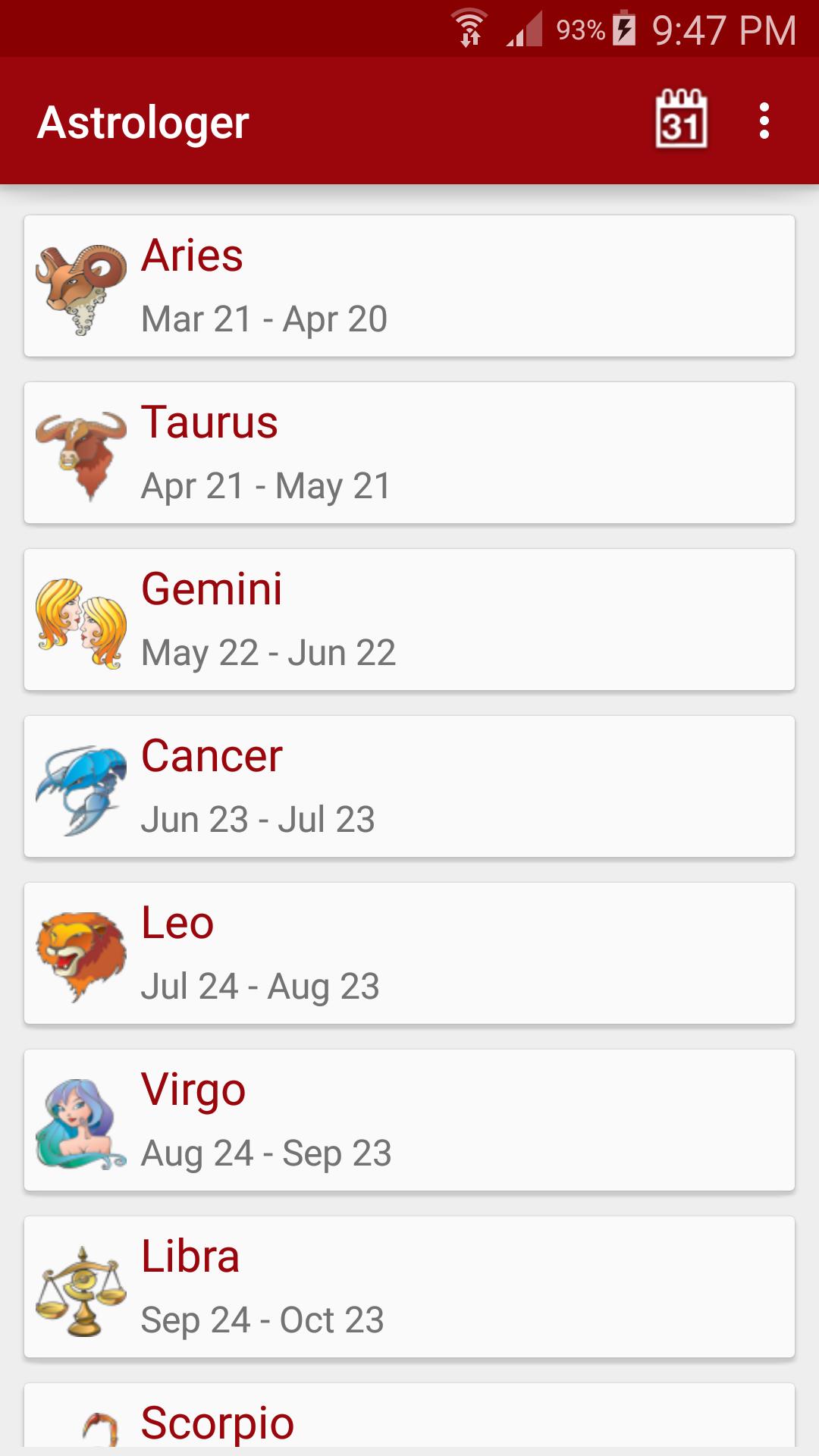 Astrologer screenshot #1