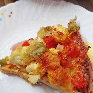 Tandoori Paneer Mushroom Veggie Pizza Recipe (Cottage Cheese & Mushroom Pizza)