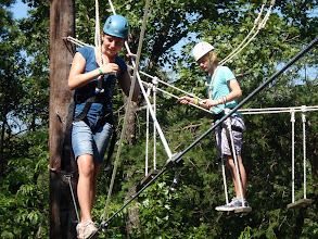 Photo: Pirate's Crossing and Swinging Bridges High Ropes Course at Camp Toccoa