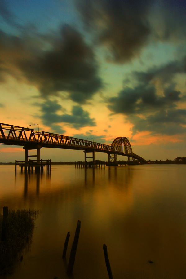 Indragiri Hilir Bridge Icon by Ramaputra Glaponk - Landscapes Travel