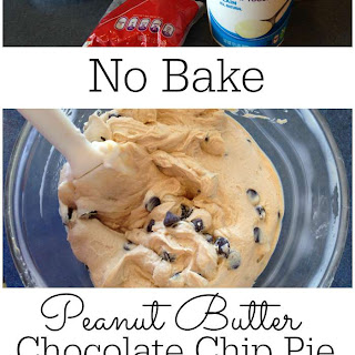 No Bake Peanut Butter Chocolate Chip Pie