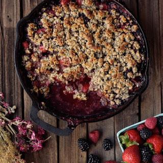 Grain-free Mixed Berry Crisp (Vegan)