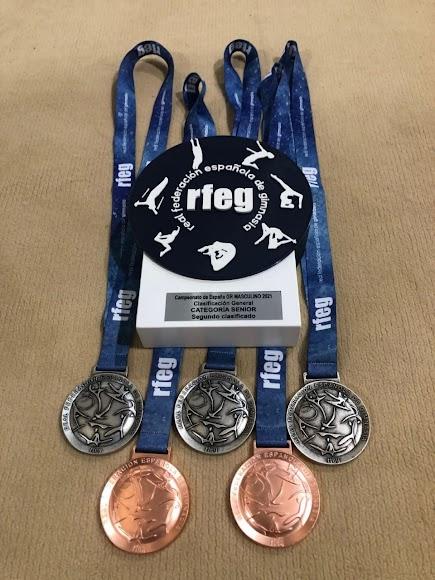 Las medallas conseguidas en el Nacional.