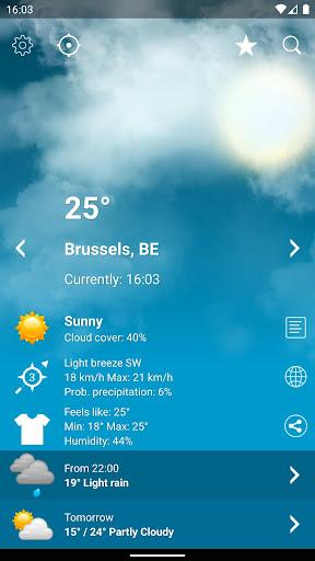 Weather Belgium XL PRO screenshot