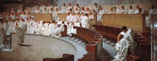 Cicerone denuncia Catilina.