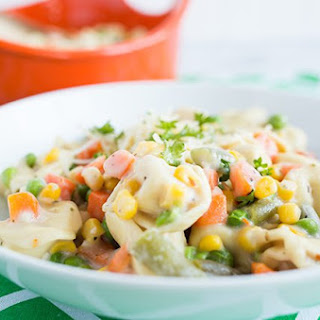 Creamy Tortellini and Vegetables
