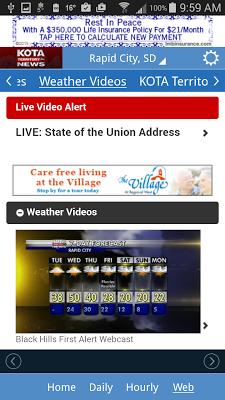 KOTA Mobile Weather - screenshot