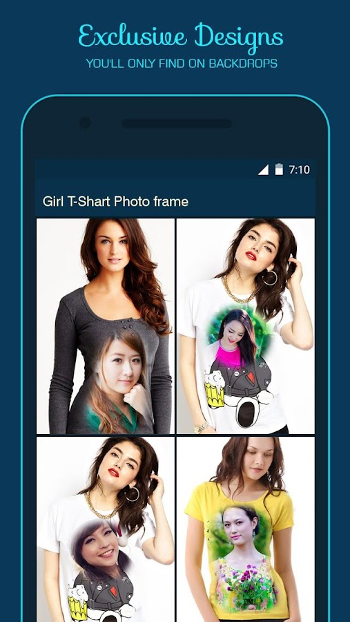 Girl T Shirt Photo Frame- screenshot