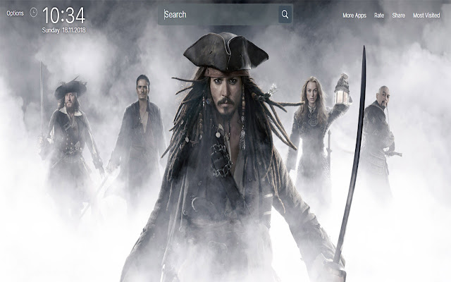 Pirates of the Caribbean Wallpapers New Tab