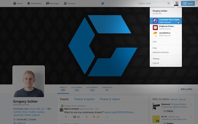 Twitter Login Manager