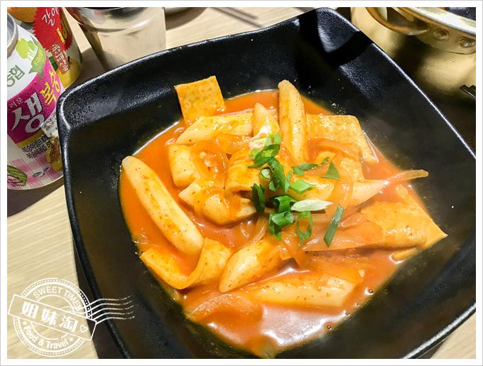 油蔥酥韓國烤肉村菜單辣炒年糕