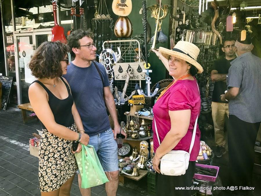 На блошином рынке Пишпишим в Яффо. Экскурсия с гидом в Израиле Светланой Фиалковой.