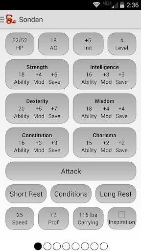 Squire - Character Manager Pro screenshot