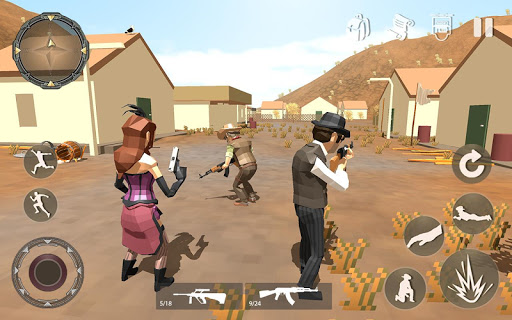 Pixel Mobile FPS Survival Battle Royale  captures d'écran 1