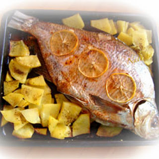Baked Freshwater Bream with Potatoes