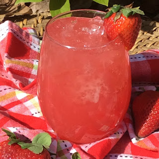 Strawberry Limeade Cocktail.
