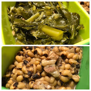 Instant Pot Black-Eyed Peas and Collard Greens.