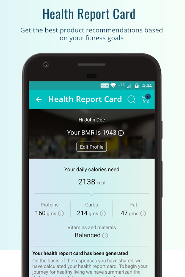 HealthKart Shopping App- screenshot