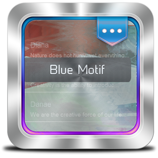 个人化のブルーモチーフ GO SMS LOGO-記事Game