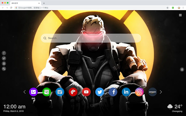 SOLDIER:76 New Tab, Customized Wallpapers HD