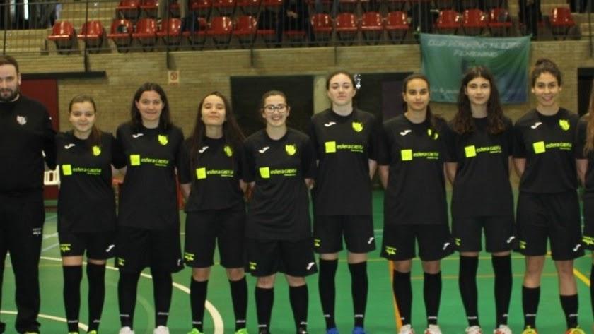 El equipo femenino de fútbol sala.