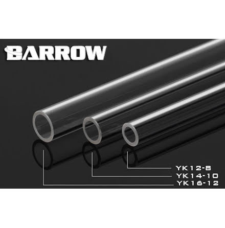 Barrow Acrylic Tube Ø8/Ø12mm, klar, 1 stk à 50cm