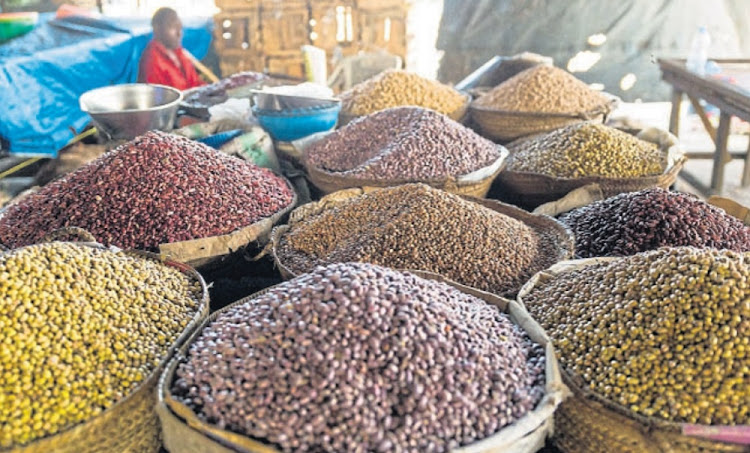 Arabesque touches: Piles of grains on display at a market in the city. Picture: SUPPLIED