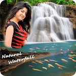 Natural Waterfall Photo Frame Icon
