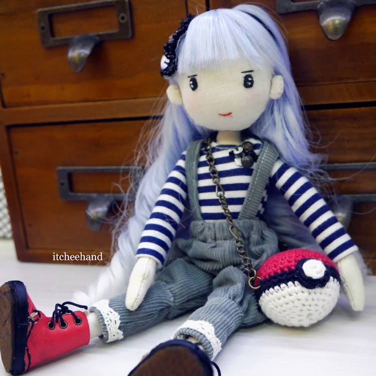 Handmade Doll- Blue hair Lady