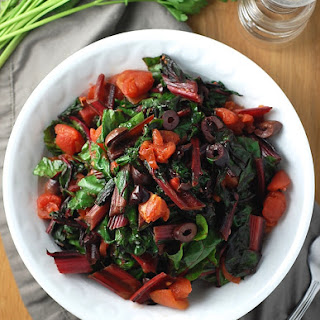 Swiss Chard Puttanesca.