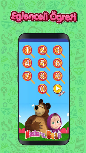Masha and The Bear Number Saymayu0131 Learn (Child) 1.0 screenshots 4