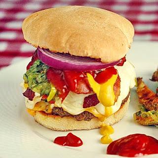 Three-Cheese Burgers on Sourdough Buns
